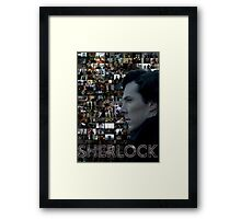 Sherlock BBC Screens Framed Print