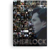 Sherlock BBC Screens Metal Print