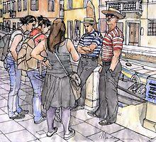 Turiste a Venezia by Luca Massone  disegni