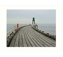 West Pier and Beacon  Art Print