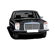 Mercedes-Benz W114/w115 illustration black Photographic Print