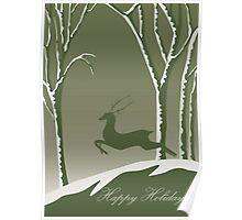 Happy Holidays - Deer Poster