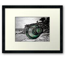 """Message in a Bottle"" Mornington Peninsula Framed Print"