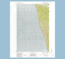USGS Topo Map Washington State WA Destruction Island 240845 1982 24000 One Piece - Short Sleeve