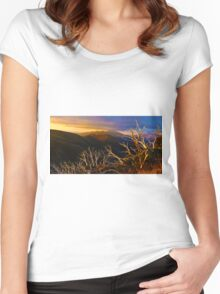 0389 Mt Hotham Brush Women's Fitted Scoop T-Shirt