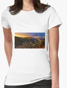 0389 Mt Hotham Brush Womens Fitted T-Shirt