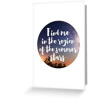MUSIC : SUMMER STARS Greeting Card
