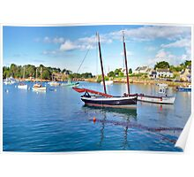 Harbour, at the Cote de Granit Rose  Poster