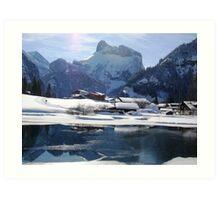 Ski Tracks Kandersteg Art Print