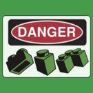 Danger Bricks Sign by Chillee Wilson, Customize My Minifig by ChilleeW