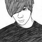 Sketch of Taemin from SHINee by Lunatasha