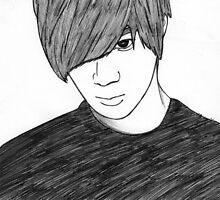 Sketch of Taemin from SHINee by Lunatasha