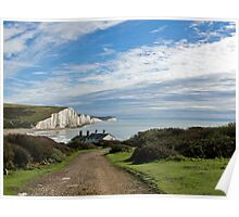 Seven Sisters and Coastguard Cottages Poster