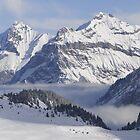 Bire Mountain from Sunnbuel, Kandersteg by MiRoImage