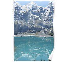 The Oeschinen Lake near Kandersteg Poster