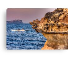 Paddling by Canvas Print