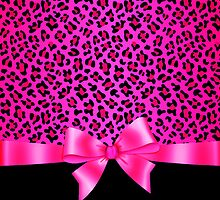 Girly Pink and Black Jaguar Print Elegant & Classy  by GirlyGirl