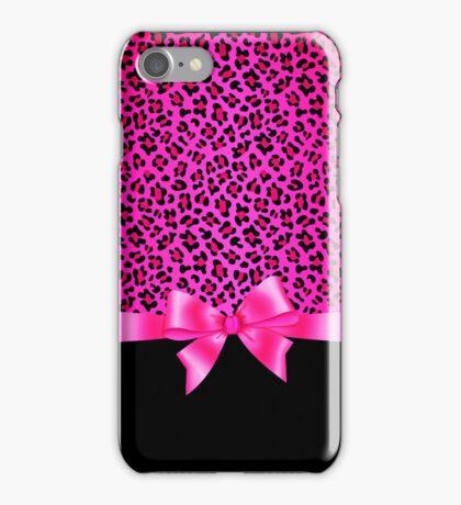 Girly Pink and Black Jaguar Print Elegant & Classy  iPhone Case/Skin
