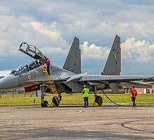 """Sukhoi Su-30MKI """"Flanker-F"""" SB167 crewing in by Colin Smedley"""