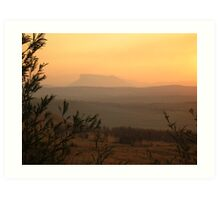 African Sunset on the Drakensberg Art Print