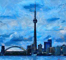 CN Tower Toronto by DiNovici