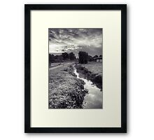 Autumn Morning by the Pymmes Brook Framed Print