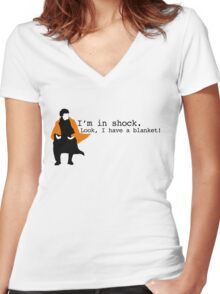 Sherlock Shock Blanket Women's Fitted V-Neck T-Shirt