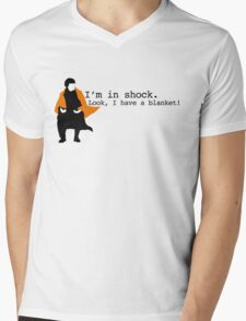 Sherlock Shock Blanket Mens V-Neck T-Shirt