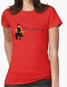 Sherlock Shock Blanket Womens Fitted T-Shirt