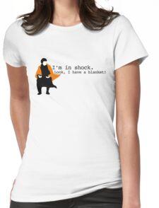 Sherlock Shock Blanket Womens Fitted T-Shirt
