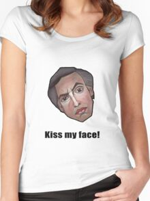 Kiss my face! - Alan Partridge Tee Women's Fitted Scoop T-Shirt