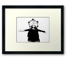 suburban Mary weighing up the odds Framed Print
