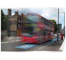 London Bus Burst Poster