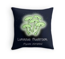 Luminous Mushroom (with smiley face) Throw Pillow