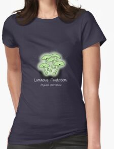 Luminous Mushroom (with smiley face) Womens Fitted T-Shirt