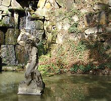 Pond with Hercules in autumn by Natas