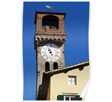 Stone Bell Tower (Campanile) Lucca, Italy Poster