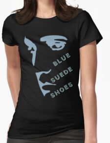 Blue Suede Shoes Elvis silhouette for dark garments Womens Fitted T-Shirt