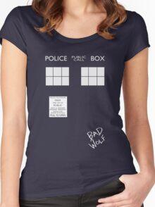 TARDIS costume shirt Women's Fitted Scoop T-Shirt