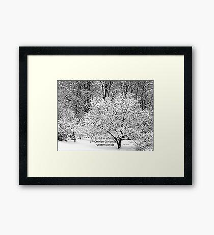 Winter's Bride Framed Print