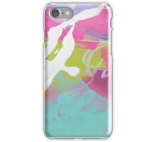 Pink and aqua abstract mess iPhone Case/Skin