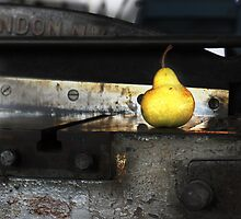 The pear on the guillotine shears by katarina86