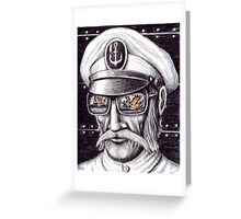 Captain colored pencils drawing Greeting Card