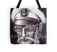 Captain colored pencils drawing Tote Bag