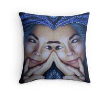 trueblue x 2 Throw Pillow