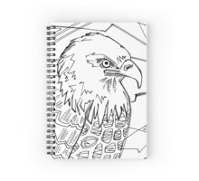 Bald eagle, coloring book page Spiral Notebook