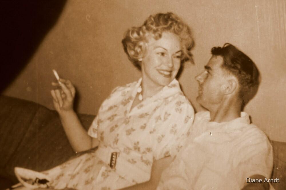 Mom and Dad...OOgle Eyeing...circa 1956 by trueblvr