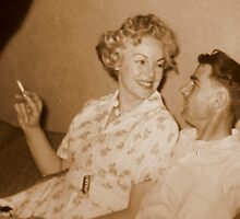 Mom and Dad...OOgle Eyeing...circa 1956 by trueblvr