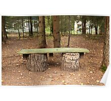 wooden bench Poster