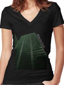 Digitize Green Logo Women's Fitted V-Neck T-Shirt